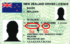 New zealand driver licence circled